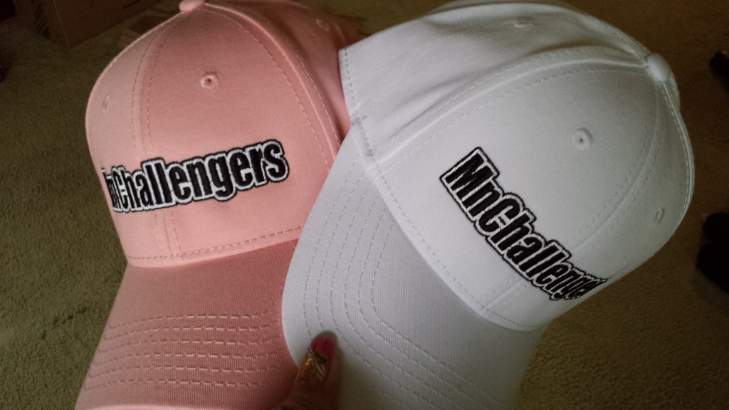 Pink and White Hats